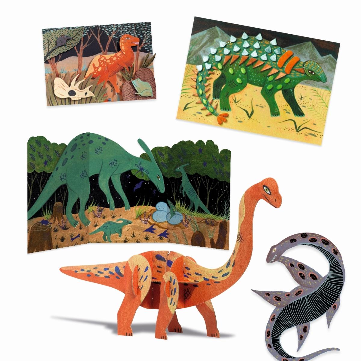Djeco Dino-Kreativ-Set, ab 6 Jahren