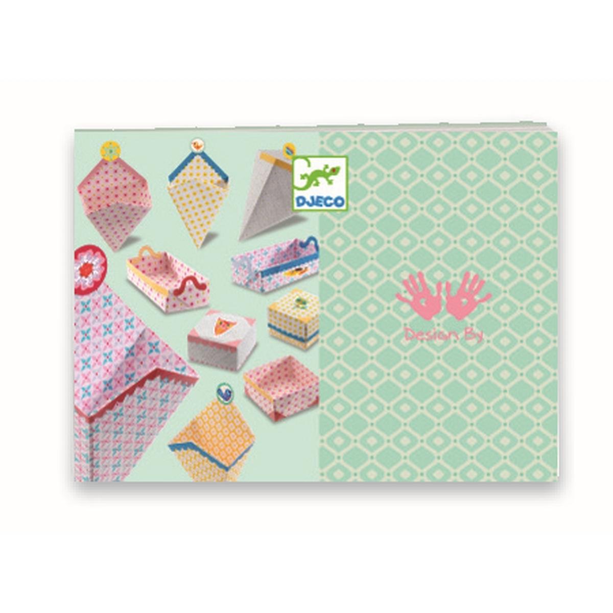Djeco Origami Set zum Basteln von kleinen Geschenkboxen, ab 7 Jahren