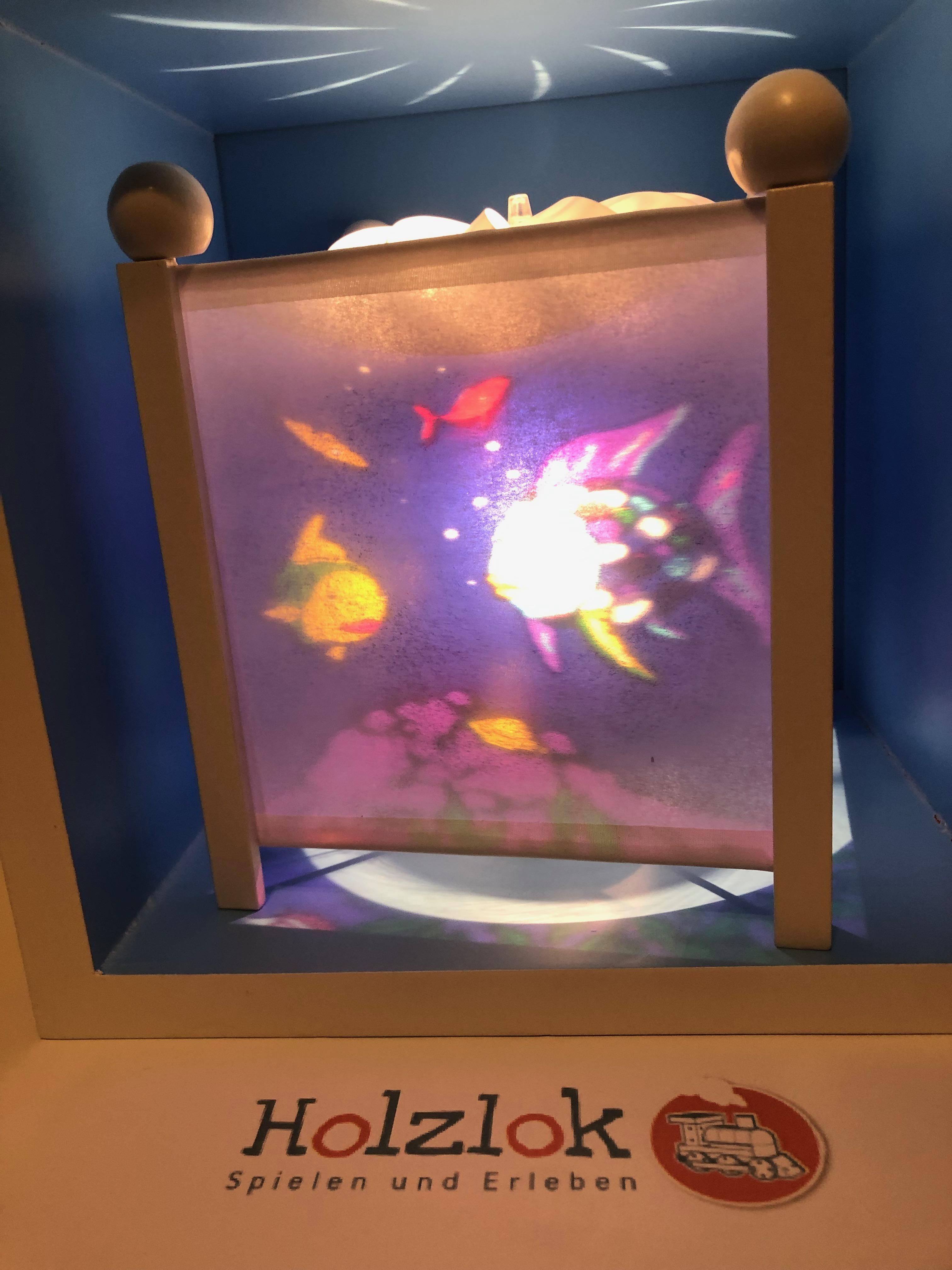 Trousselier Nachtlicht , Magische Laterne Regenbogenfisch, mit weißen Ecksäulen