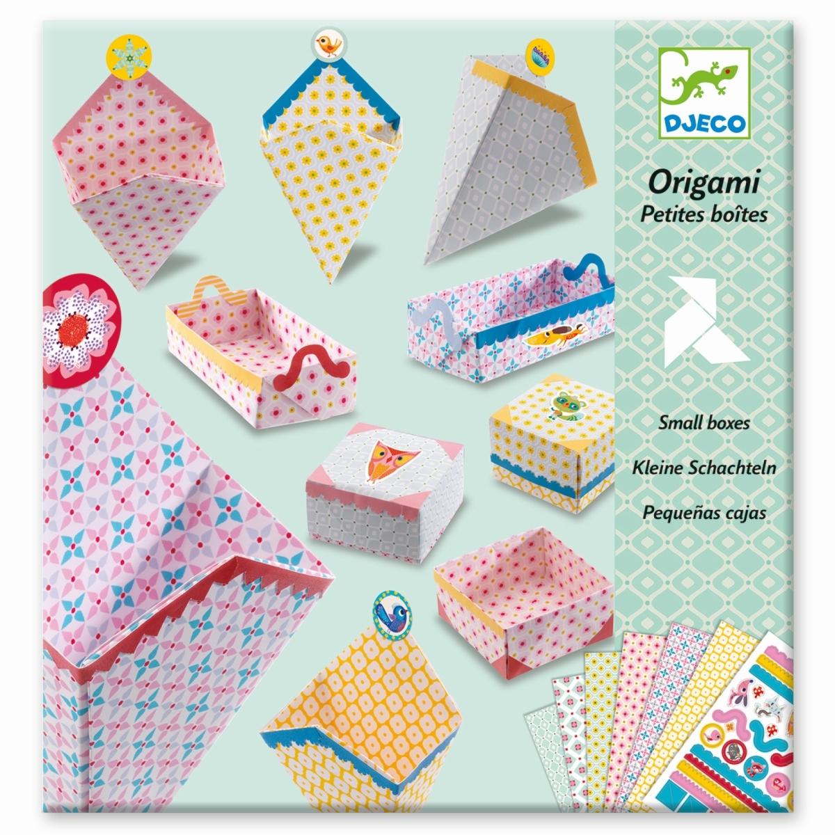 Origami Set zum Basteln von kleinen Geschenkboxen