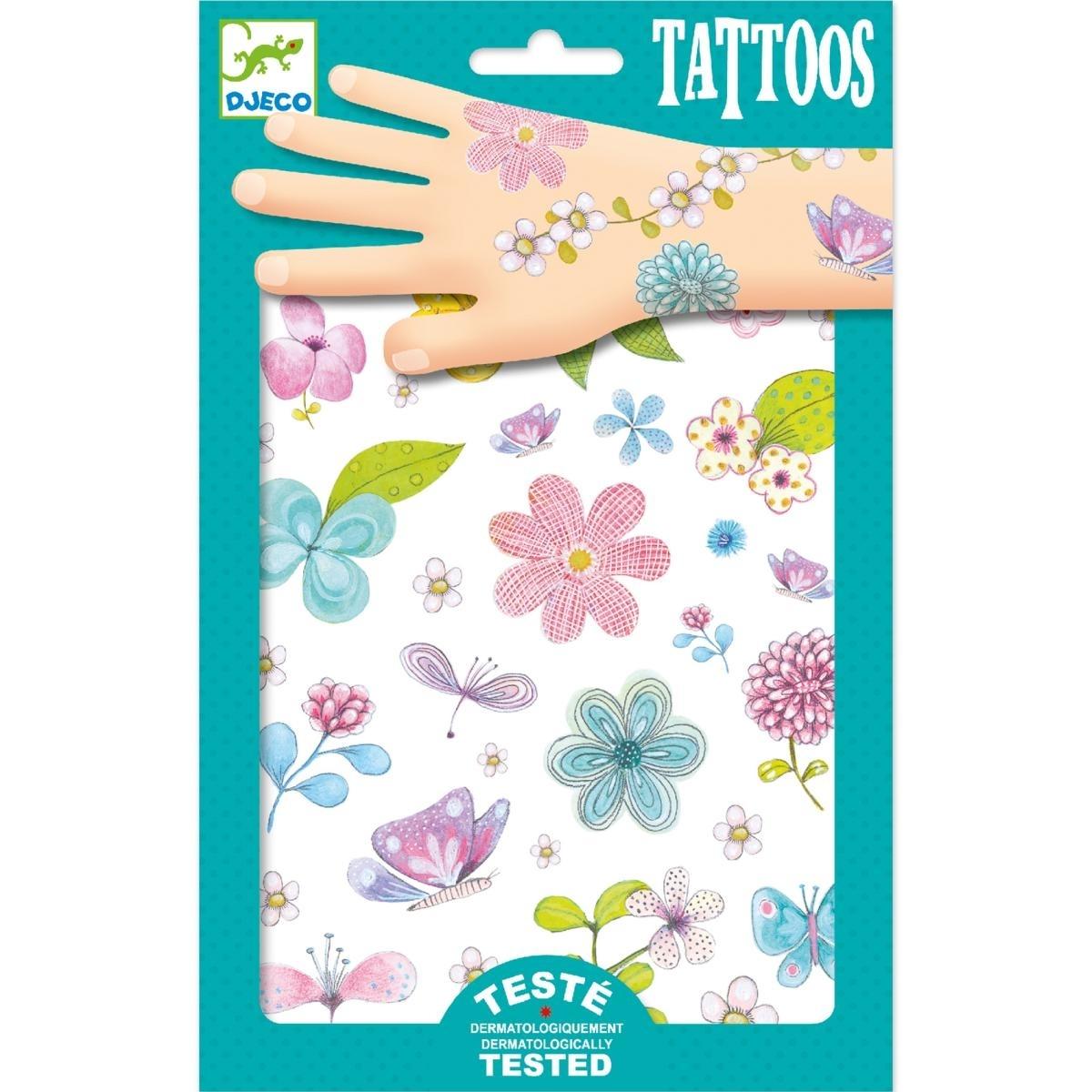 Djeco Tattoos mit Blumenmotiven, ab 3 Jahren