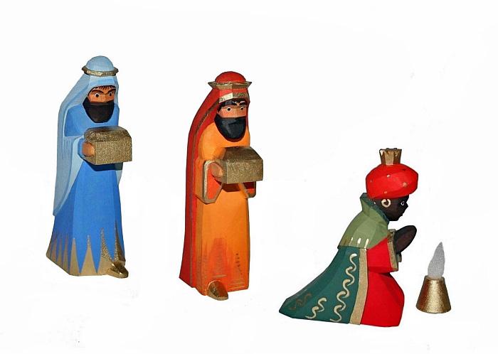 Sievers-Hahn Krippenfiguren Set mit den Heiligen Drei Königen orientalisch mit Caspar, Melchior und Balthasar