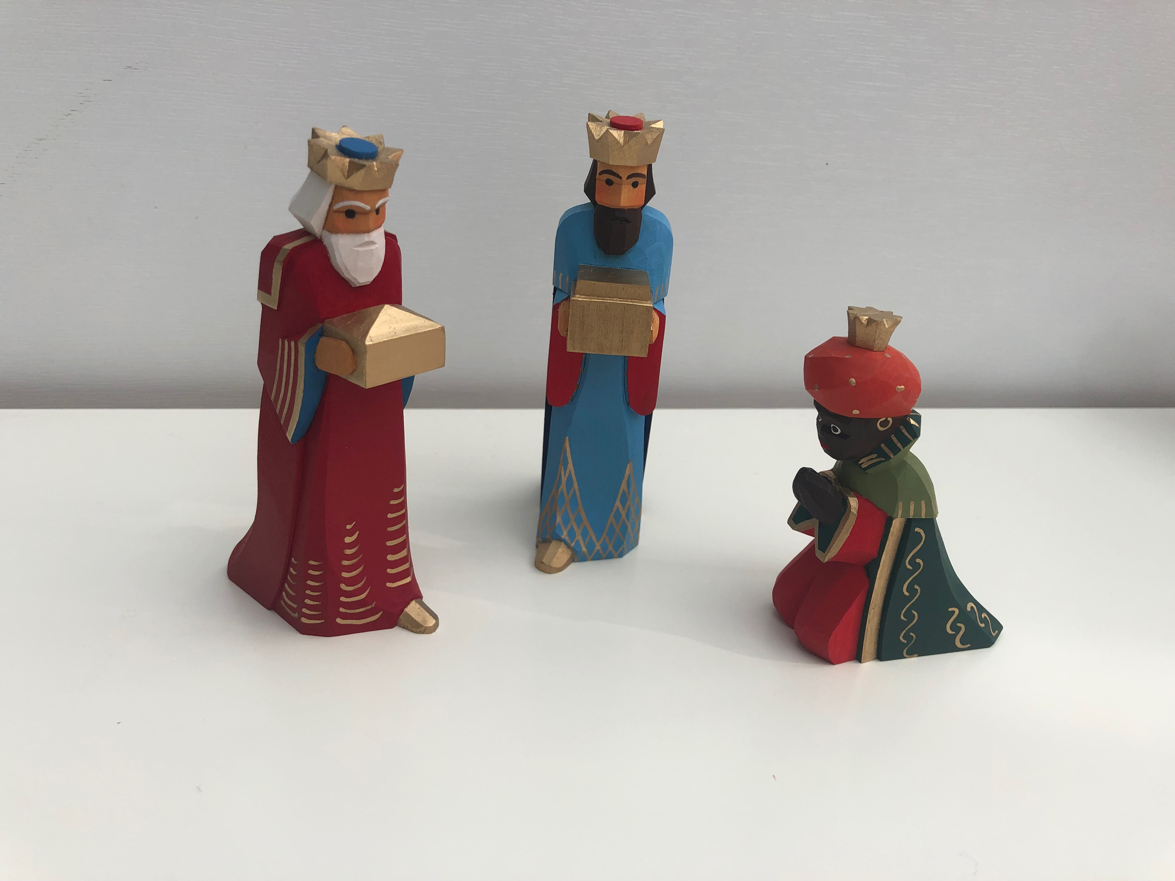 Sievers-Hahn Krippenfiguren Set mit den Heiligen Drei Königen