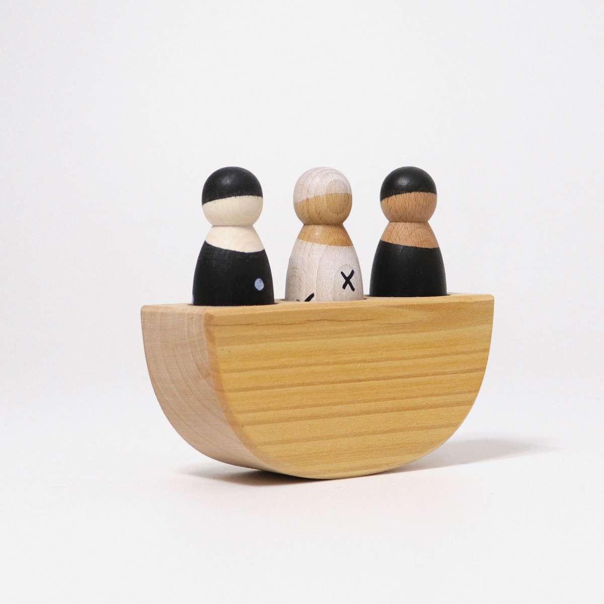 GRIMMS Drei Freunde im Boot Monochrom ab 1 Jahr