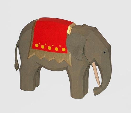 Sievers-Hahn Krippenfigur Elefant groß, 13cm, Art.1200