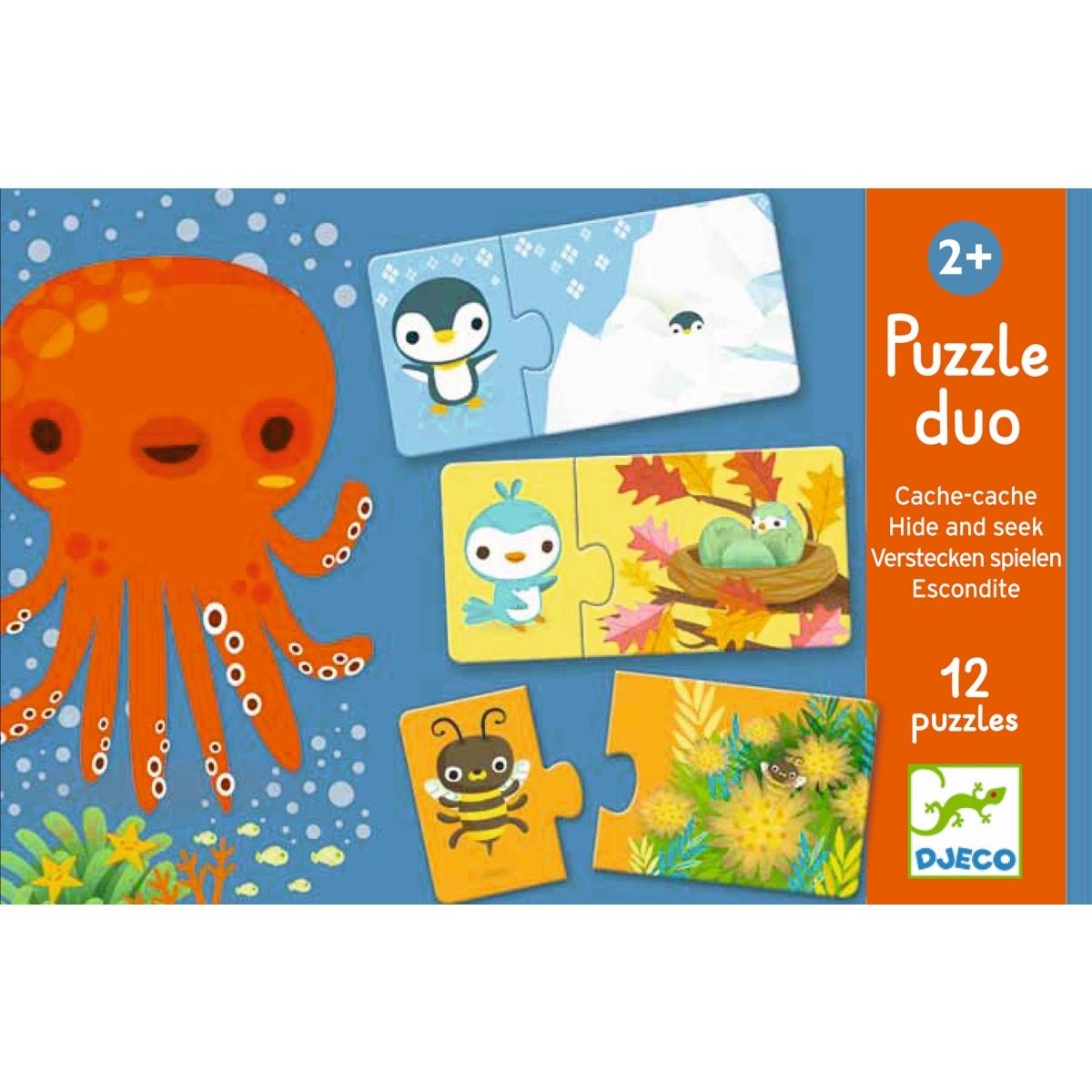 Puzzle duo Verstecken ab 2 Jahren