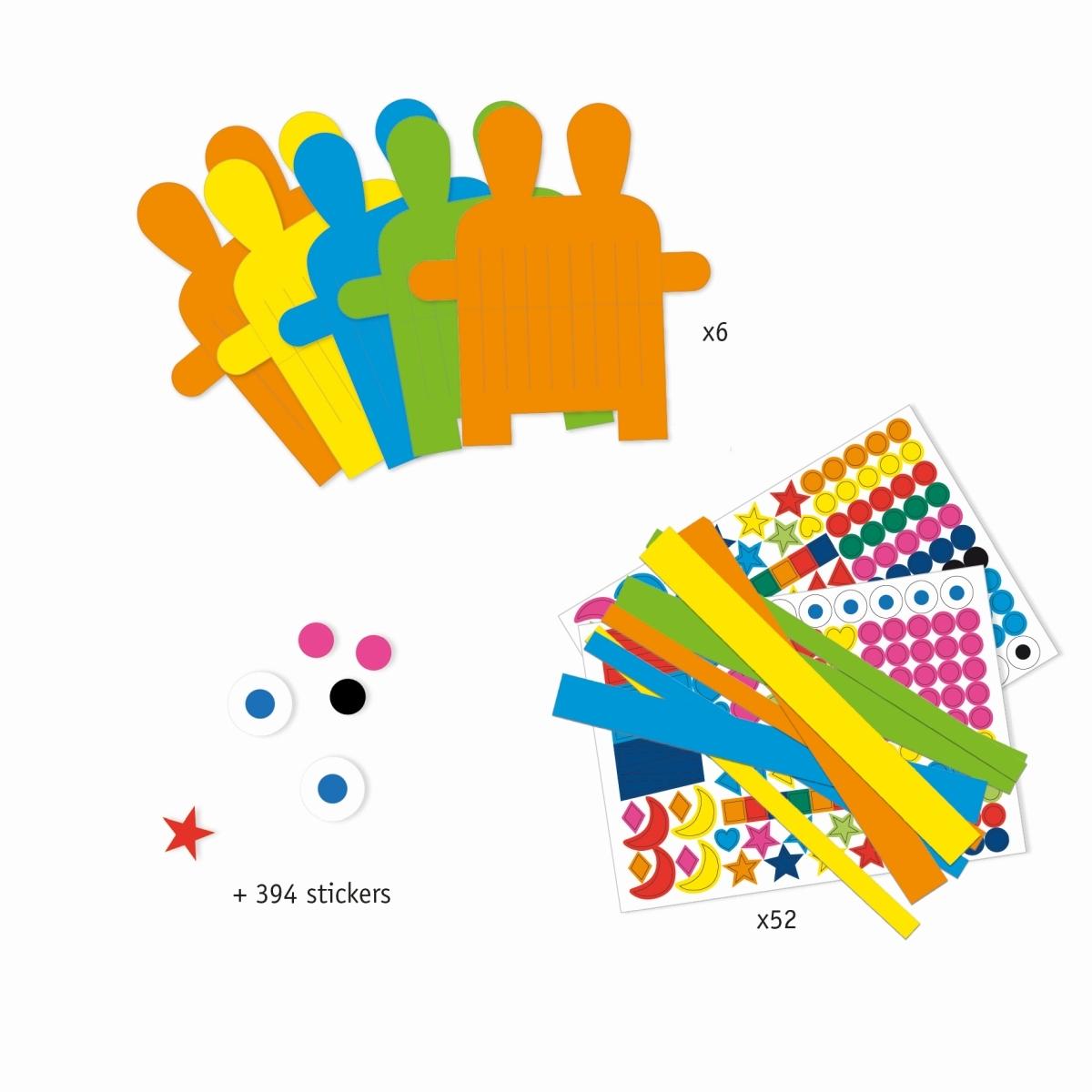 Djeco Papierweben mit 8 verschiedenen Hasenmotiven, ab 3 Jahren