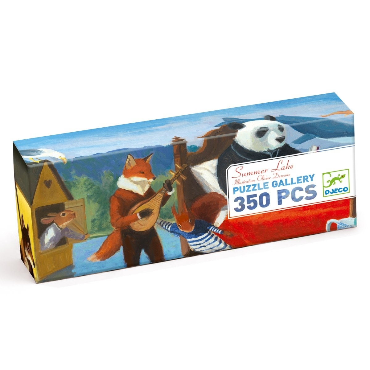 Djeco Puzzle Galerie Sommer See 350 Teile, Alter 7 +
