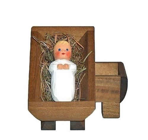 Sievers-Hahn Krippenfigur Christkind, blond, 2 tlg. Art.1015