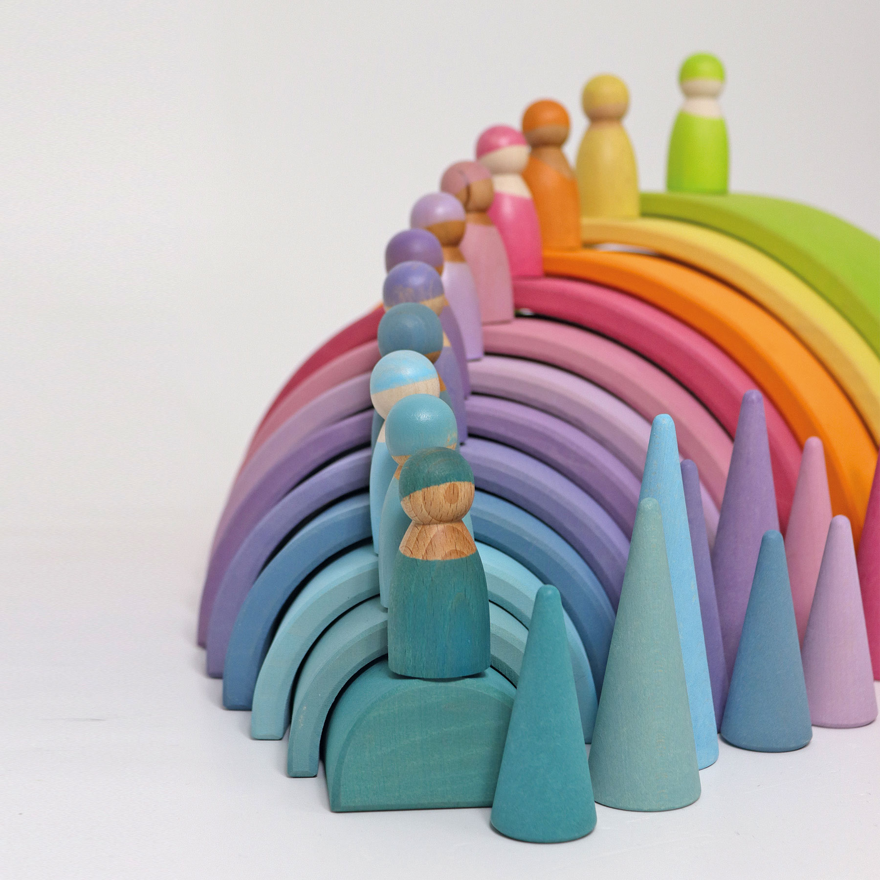 Grimms Regenbogenfreunde pastell 12 Stück