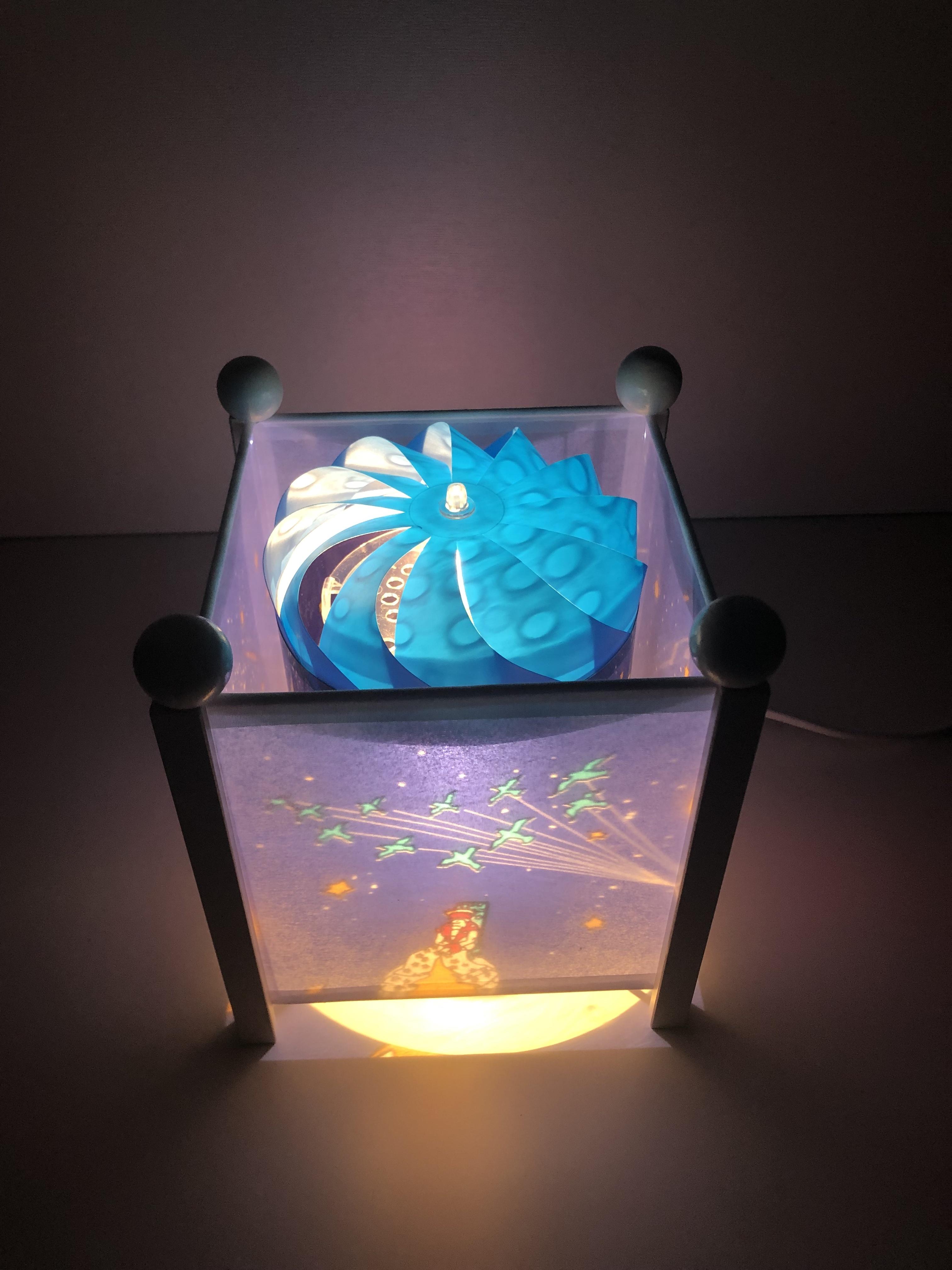 Trousselier Nachtlicht, Magische Laterne kleiner Prinz, mit weißen Ecksäulen