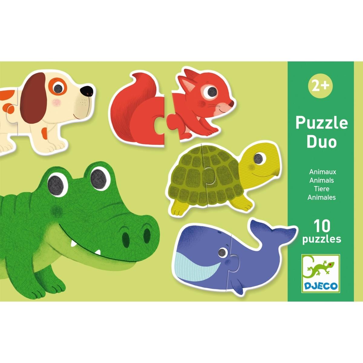 Djeco Puzzle duo-trio Verstecken und Finden ab 2 Jahren