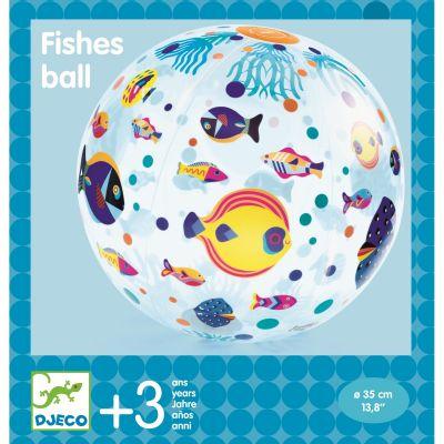 Djeco Wasserball mit bunten Fischen als Dekor ab 3 Jahren